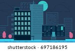 street city buildings | Shutterstock .eps vector #697186195