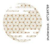 japanese pattern vector. gold... | Shutterstock .eps vector #697189789
