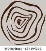 wood rings texture vector | Shutterstock .eps vector #697194379