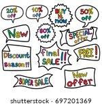 promo banner geometric vector... | Shutterstock .eps vector #697201369