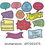 promo banner geometric vector... | Shutterstock .eps vector #697201375