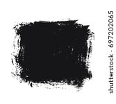 black vector brush stroke | Shutterstock .eps vector #697202065