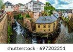 german village. | Shutterstock . vector #697202251