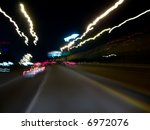 blurred city ride  taken while... | Shutterstock . vector #6972076