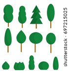 a set of stylized trees and... | Shutterstock .eps vector #697215025