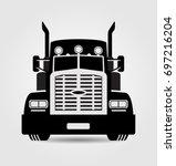 generic semi trailer truck... | Shutterstock .eps vector #697216204
