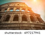 rome  italy.one of the most... | Shutterstock . vector #697217941