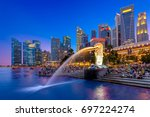 singapore  singapore   january... | Shutterstock . vector #697224274