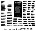 painted grunge stripes set.... | Shutterstock .eps vector #697225297