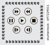 media player control button | Shutterstock .eps vector #697229011