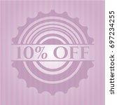 10  off retro style pink emblem | Shutterstock .eps vector #697234255