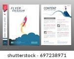 covers book design template... | Shutterstock .eps vector #697238971