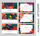 set template  white invitation... | Shutterstock .eps vector #697242499