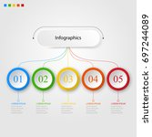 infographics of 5 elements... | Shutterstock .eps vector #697244089