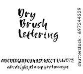 hand drawn dry brush font.... | Shutterstock .eps vector #697244329