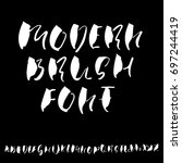 hand drawn elegant calligraphy... | Shutterstock .eps vector #697244419