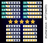 5 stars rating vector icon