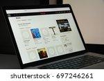 milan  italy   august 10  2017  ... | Shutterstock . vector #697246261