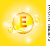 vitamin icon   bubbles vector... | Shutterstock .eps vector #697247221