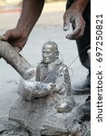 destroying the model that cast... | Shutterstock . vector #697250821