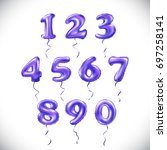 vector purple number 1  2  3  4 ... | Shutterstock .eps vector #697258141