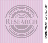 research retro style pink emblem | Shutterstock .eps vector #697260289