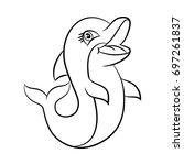 dolphin. coloring book design... | Shutterstock .eps vector #697261837