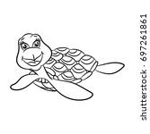 turtles. coloring book design... | Shutterstock .eps vector #697261861