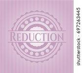 reduction pink emblem. retro | Shutterstock .eps vector #697263445