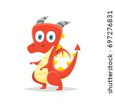 cartoon dragon vector | Shutterstock .eps vector #697276831