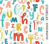cute english hand written...   Shutterstock .eps vector #697280515