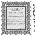 grey sample diploma. detailed.... | Shutterstock .eps vector #697280695
