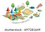 vector illustration playground  ... | Shutterstock .eps vector #697281649