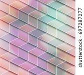 isometric geometric seamless... | Shutterstock .eps vector #697287277