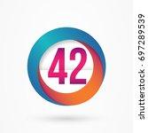 stylized number 42 design... | Shutterstock .eps vector #697289539