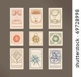 postage stamps  vintage... | Shutterstock .eps vector #69728998