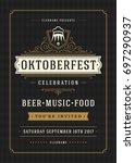 oktoberfest beer festival... | Shutterstock .eps vector #697290937