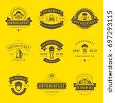 oktoberfest celebration beer... | Shutterstock .eps vector #697293115
