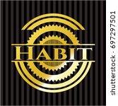 habit gold badge or emblem   Shutterstock .eps vector #697297501