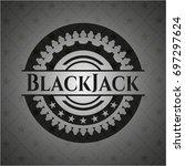 blackjack retro style black...   Shutterstock .eps vector #697297624