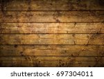 a wooden background for many... | Shutterstock . vector #697304011