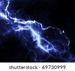 abstract blue lightning over... | Shutterstock . vector #69730999