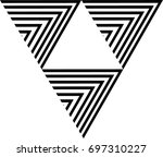 vector hipster triangle... | Shutterstock .eps vector #697310227