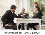 business people planning... | Shutterstock . vector #697315924