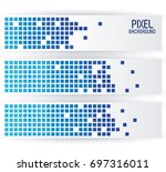 blue pixel background in...