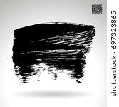 black brush stroke and texture. ... | Shutterstock .eps vector #697323865