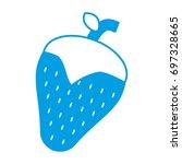 strawberry fruit icon   Shutterstock .eps vector #697328665