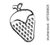 strawberry fruit icon   Shutterstock .eps vector #697330825