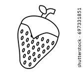 strawberry fruit icon   Shutterstock .eps vector #697331851