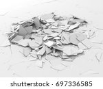abstract destruction white... | Shutterstock . vector #697336585